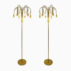Vintage Palme Stehlampen, 2er Set