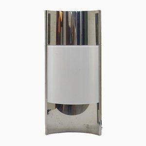 Lampada da tavolo vintage in metallo cromato e plexiglas