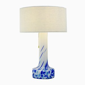 Lámpara de mesa vintage de vidrio