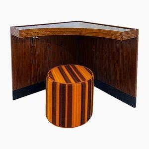 Eck-Schreibtisch und Hocker