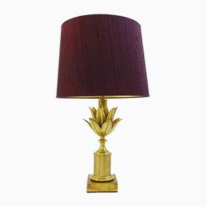 Lámpara de mesa Lotus de latón de Maison Charles, años 60