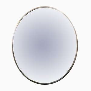 Oversized Round Metal Mirror, 1970s