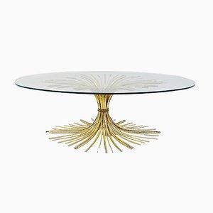 Table Basse Vintage en Métal Doré