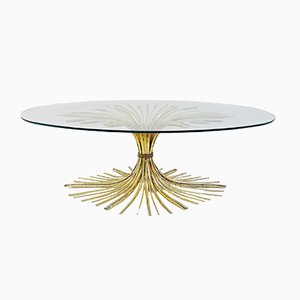 Vintage Gilt Metal Coffee Table