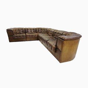 Grand Canapé Modulable DS-11 en Patchwork de Cuir de De Sede