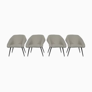 Mid-Century Lounge Chairs, Set of 4
