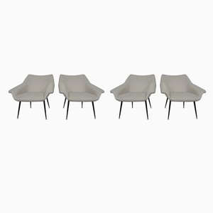 Mid-Century Lounge Chairs, 1960s, Set of 4