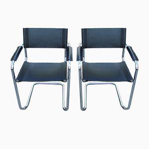 Bauhaus Italian Chairs, 1970s, Set of 2