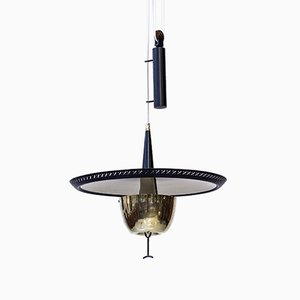 Swedish Ceiling Lamp from Boréns, 1950s