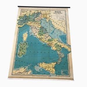 Mapa político de Italia vintage