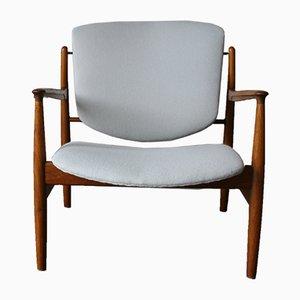 Vintage Modell FD 136 Armlehnstuhl aus Teak von Finn Juhl für France & Daverkosen