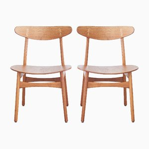 Dining Chairs No. CH30 by Hans Wegner for Carl Hansen and Søn, 1950s, Set of 2