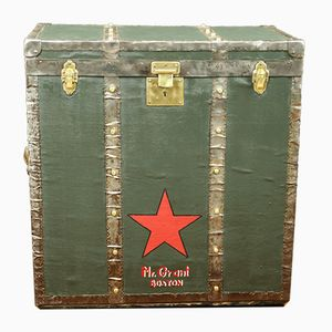 Tall Green Boston Trunk, 1920s