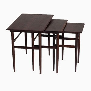 Rosewood Nesting Tables by Amager Bolighus, 1960s