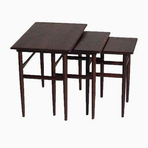 Tavolin ad incastro in palissandro di Amager Bolighus, anni '60