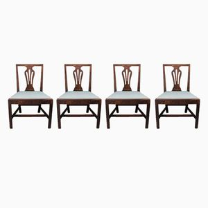 Antique Chippendale Style Dining Chairs, Set of 4