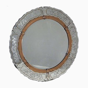 Antique Venetian Round Mirror