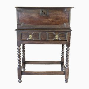 Antique Oak Bible Box on Stand