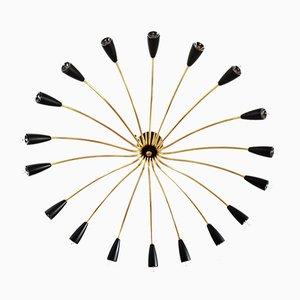 German Sputnik Chandelier, 1950s