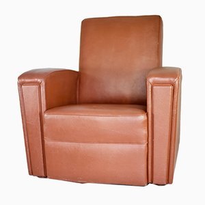 French Leatherette Armchair from Airborne, 1950s