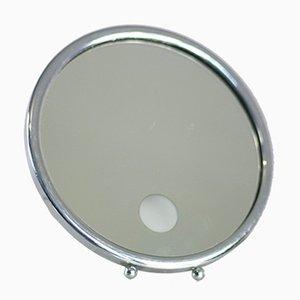 Beleuchteter französischer Spiegel in Silber, 1950er