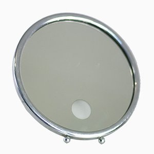 French Silver Illuminating Mirror, 1950s