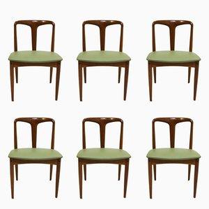 Mid-Century Juliane Esszimmerstühle aus Teak von Johannes Andersen für Uldum, 6er Set