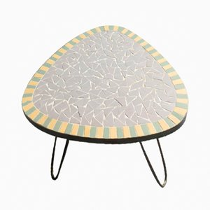 Small Mosaic Top Side Table, 1950s