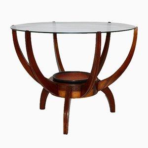 Tavolino da caffè Mid-Century in noce, anni '50