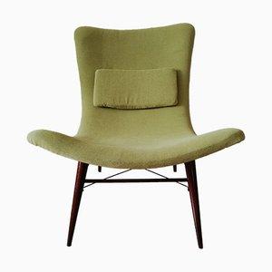 Mid-Century Banana Chair by Miroslav Navratil for Cesky Nabytek