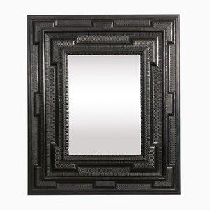 Antiker flämischer Spiegel aus Obstholz
