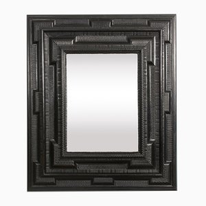 Miroir Flamand Antique en Bois Fruitier