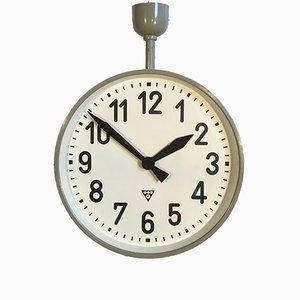 Grande Horloge d'Usine Industrielle à Double Face de Pragotron