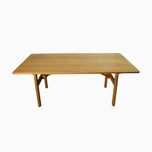 Tavolo da pranzo in quercia di Hans J. Wegner per Andreas Tuck, 1975