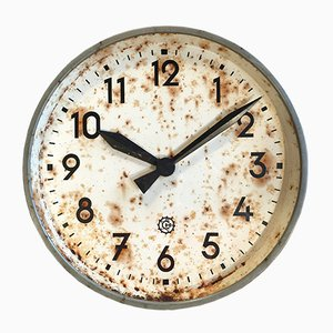 Grande Horloge Murale d'Usine Industrielle de Chronotechna, 1950s