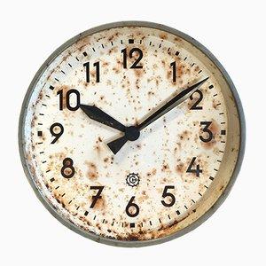 Orologio da parete grande industriale di Chronotechna, anni '50