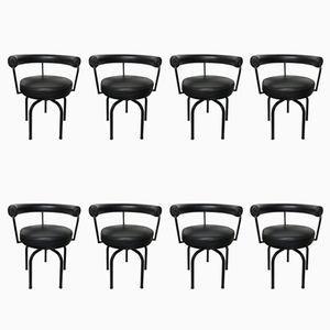 LC 7 Chairs by Pierrand, Corbusier, & Jeanneret for Cassina, 1960s, Set of 8