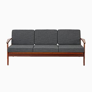 Three-Seater Teak Sofa by Arne Vodder for Vamø, 1960s