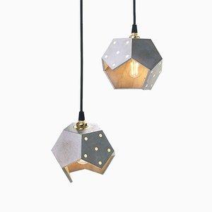 Lampada a sospensione Basic TWELVE Duo in cemento di Plato Design
