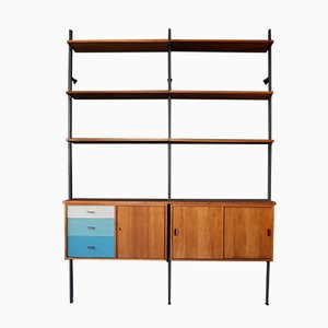 Libreria in teak di Olof Pira per String, anni '60