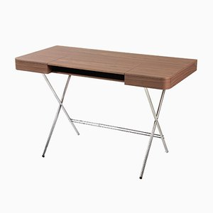 Cosimo Desk with Walnut Veneer Top by Marco Zanuso Jr. for Adentro, 2017