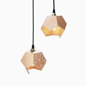 Lampada a sospensione Basic TWELVE Duo in legno di Plato Design