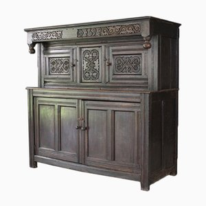 Antique Carved Oak Court Cupboard