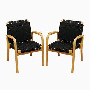 Vintage Model 45 Armchairs by Alvar Aalto for Artek, Set of 2
