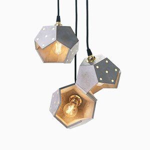 Basic TWELVE Trio Concrete Pendant Lamp from Plato Design