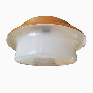 Vintage Industrial Czechoslovakian Lobby Ceiling Lamp from Elektrosvit