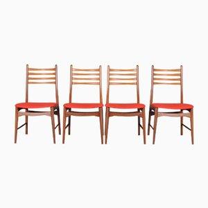 Chaises de Salle à Manger en Teck, Danemark, 1960s, Set de 4