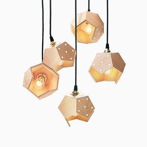 Lampada a sospensione Basic TWELVE Quintet in legno di Plato Design