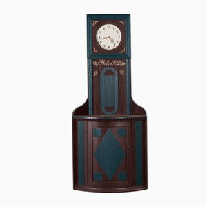 Antique Mora Clock with Corner Cupboard, 1846