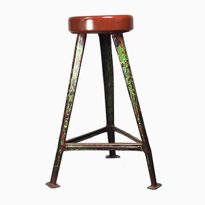 Vintage Industrial Stool by Robert Wagner for Rowac
